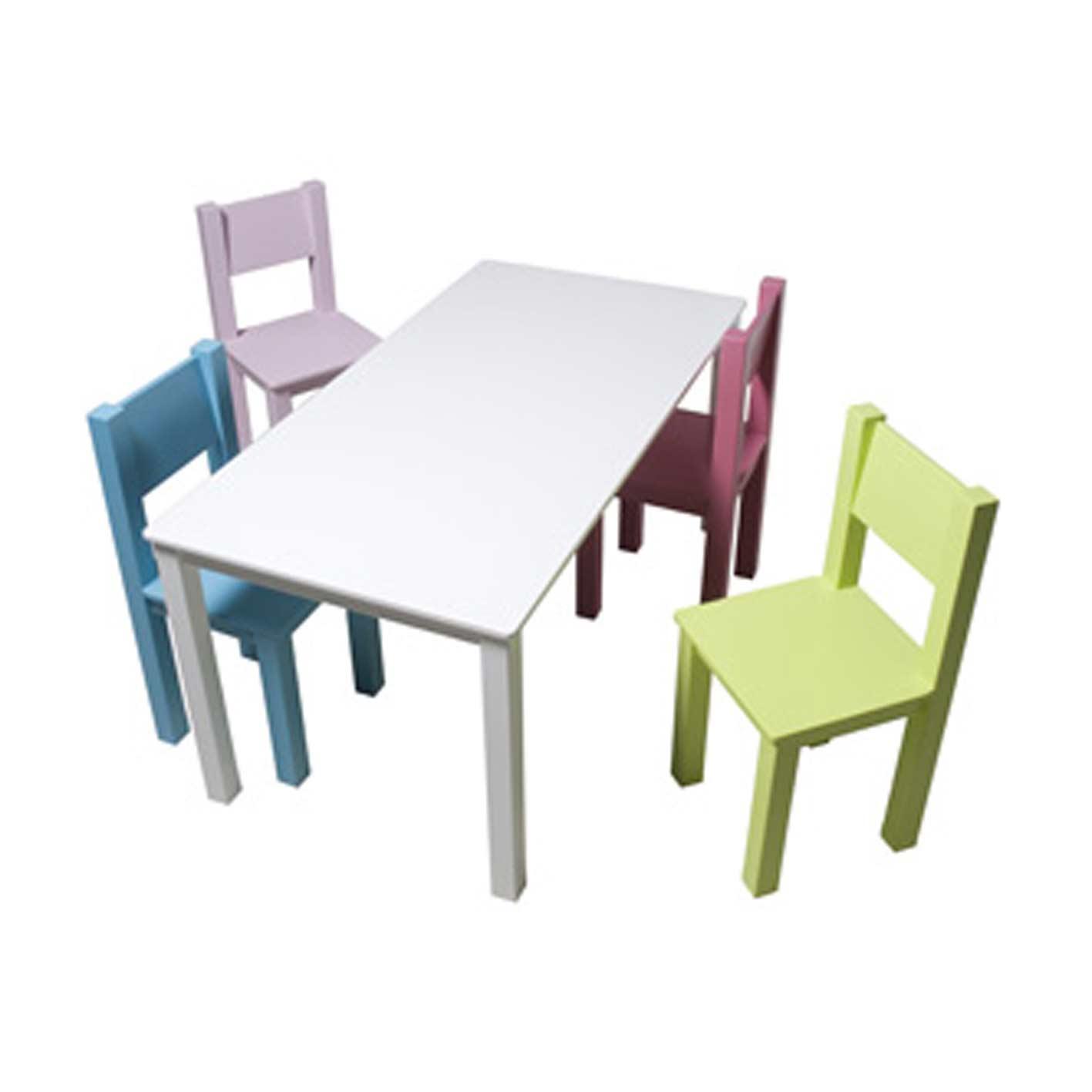 Kindertische und Stühle