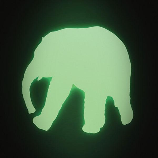 Glow-in-the-dark Wandtattoo