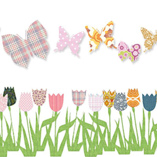 Tapetenschmetterlinge und -tulpen