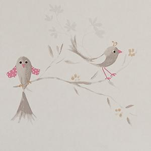 Vögel und Vogelhäuschen
