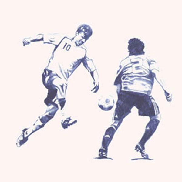 Fußballer und Polospieler