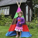Zelte und Spielhäuser