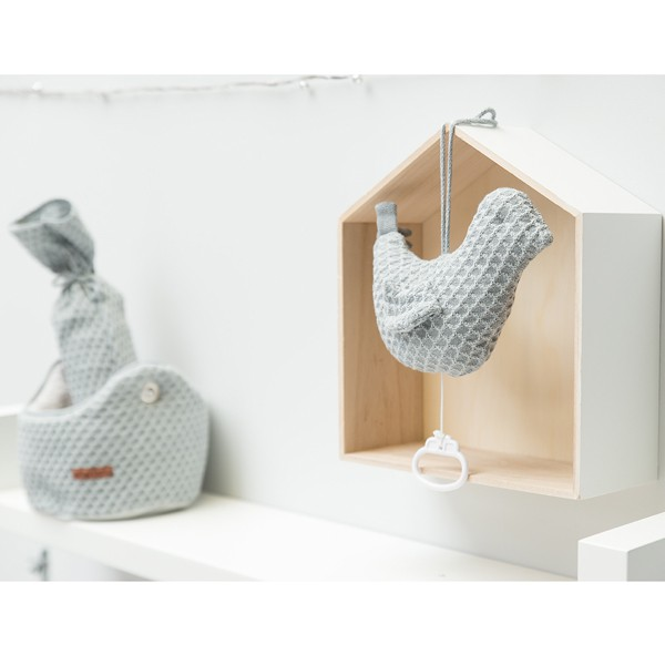 Baby's Only Wickelunterlagenbezug 'Sun' grau/silbergrau 45x70cm