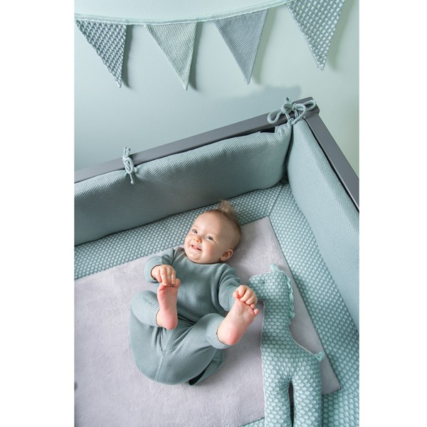 Baby's Only Babydecke 'Sun' mint/stonegreen 90x75cm