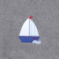 Annette Frank BIO-Babydecke 100x140cm Segelboot