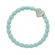 By Eloise Haargummi Armband Gold Heart mint