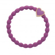 By Eloise Haargummi Armband Gold Heart mulberry