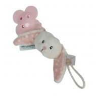 "Little Dutch Schnullerkette Hase ""Adventure pink"""