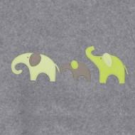 Annette Frank BIO-Babydecke 100x140cm Elefanten in grün