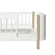 Oliver Furniture Wood Collection Umbauset von Mini+ halbhohes Bett in Mini+ Juniorbett 162cm in weiß/Eiche