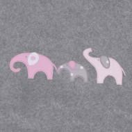 Annette Frank BIO-Babydecke 100x140cm Elefanten in rosa