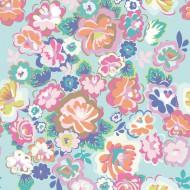 "Eijffinger Rice ""Everyday Magic"" Tapetenwandbild English Country floral aqua"