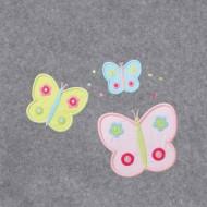 Annette Frank BIO-Babydecke 100x140cm Schmetterling