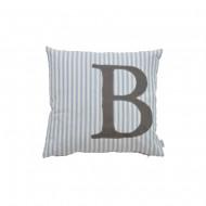 Oliver Furniture Buchstabenkissen: Buchstabe B in grau
