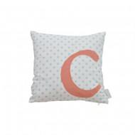 Oliver Furniture Buchstabenkissen: Buchstabe C in orange