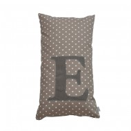 Oliver Furniture Buchstabenkissen: Buchstabe E in braun