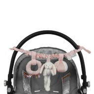 "Little Dutch Kinderwagenkette Hase ""Adventure pink"""