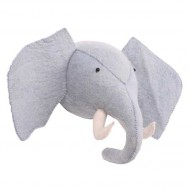 Kidsdepot Wandtrophäe Elefant blaugrau 40x17x18cm