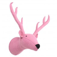 Kidsdepot Wandtrophäe Rentier pink 30x18x50cm