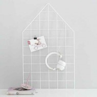 Laa Laa Living Draht-Memoboard Haus in weiß
