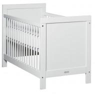 Bopita Mix&Match Babybett 60x120cm in weiß mit runden Gitterstäben