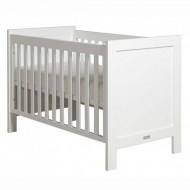 Bopita Mix&Match Babybett FINN 60x120cm in weiß mit geraden Gitterstäben