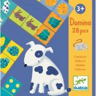 Djeco Lernspiel: Domino Farben und Tiere