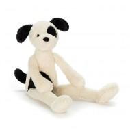 Jellycat Kuscheltier 'Pitterpat Puppy' Hund weiß / schwarz 40cm
