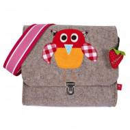 "la fraise rouge Kindergartentasche aus Filz ""Eule"""