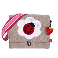 """la fraise rouge Kindergartentasche aus Filz """"Marienkäfer"""""""