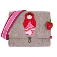"""la fraise rouge Kindergartentasche aus Filz """"Russische Puppe"""""""