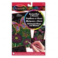 """Melissa & Doug """"Scratch Art"""" Schmetterlinge und Blumen"""