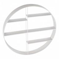 Kidsdepot rundes Metall-Wandregal weiß Ø 68cm