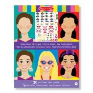 Melissa & Doug Mach ein Gesicht Stickerblock