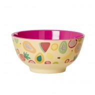 Rice großes Melaminschälchen 2-farbig 'Tutti Frutti'
