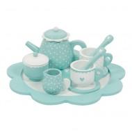 Little Dutch Holzspielzeug Teeset mint