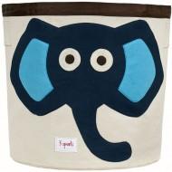 Aufbewahrungskorb Elefant in blau von 3 Sprouts