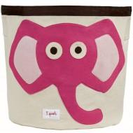 Aufbewahrungskorb Elefant in pink von 3 Sprouts