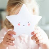 A Little Lovely Company Mini Nachtlicht Stern weiß