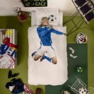 Snurk Bettwäsche Fußballer in blau 135x200cm