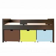 Bopita Mix&Match Kompaktbett Timo 90x200cm in anthrazit - Boxen exklusive, Farben frei wählbar