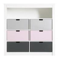 Bopita Mix&Match Regal doppelt mit 7 Fächern in weiß  - Farben Boxen wählbar