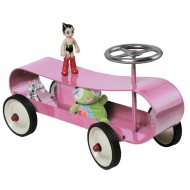 Baghera Rutschauto Streamliner aus Metall in rosa