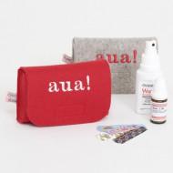 Djou Djou AUA! Filztasche für kleine Medikamente in grau oder rot
