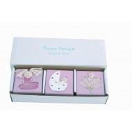 Holzboxen 3er Set Rosa für erste Erinnerungen