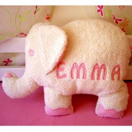 Paulili Kuschelkissen Elefant mit Namen in Rosa