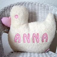 Paulili Kuschelkissen Ente mit Namen in Rosa
