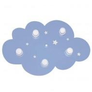 """Waldi Deckenleuchte """"Wolke"""" in Hellblau mit Sternen"""