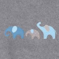 Annette Frank BIO-Babydecke 100x140cm Elefanten in blau