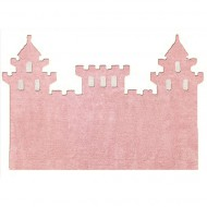Teppich waschbar rosa in Schlossform 120x160cm